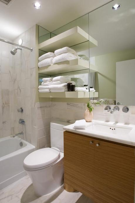 Brilliant space saving ideas for small bathrooms paperblog for Space saving bathroom designs