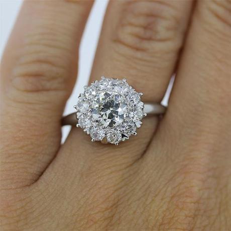 Old european cut engagement ring