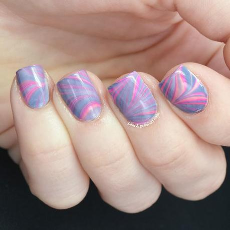 The incredible, ever-changing water marble featuring Ruby Wing polishes