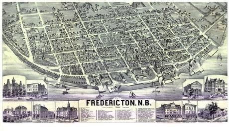 Map of Fredericton - Alexander Hubly - 1882