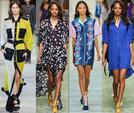 Contrast collar button down fashion trends for spring 2014