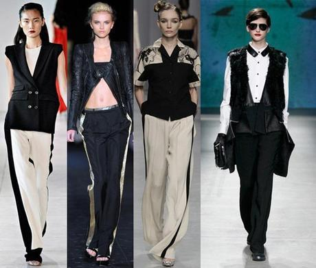 Tuxedo - Athletic Trousers fashion trends for spring 2014