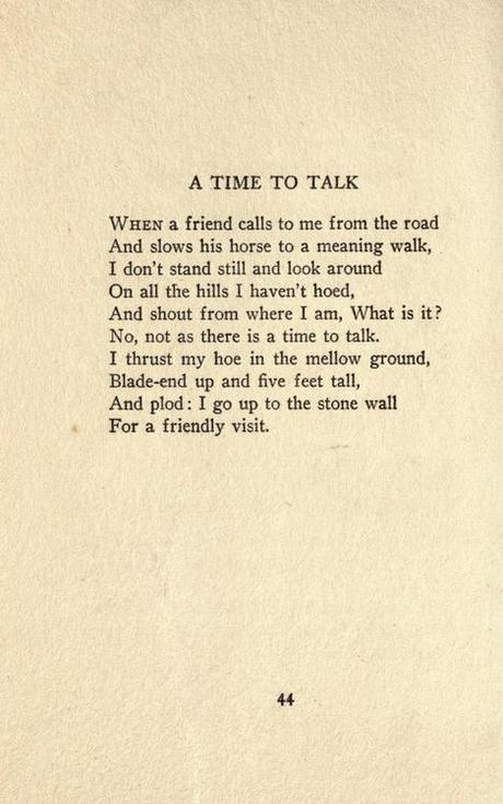 time to talk by robert frost