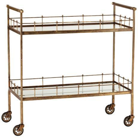 Arteriors home 1200 Dont pay $1,200, Upcycle a Gold Bar Cart for Under $52