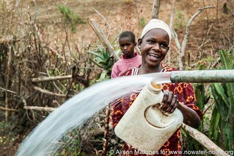Kenya: No Water No Life Mara River Expedition, Kalenjin villagers collecting water from a new well, south of Mulot in Mara River Basin