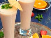 Banana, Strawberry Orange Shake