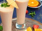 Banana, Strawberry Orange Shake