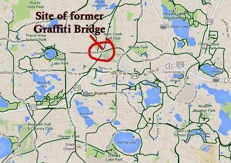 Graffiti bridge map