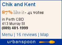 Chik and Kent on Urbanspoon