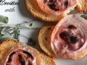 Crostini with Pancetta Balsamico Drizzle