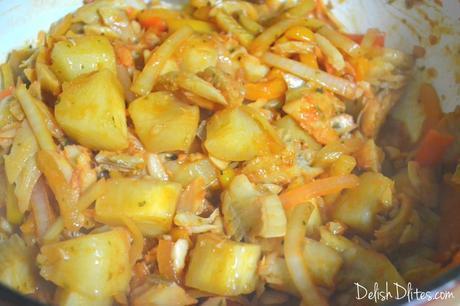 Bacalao Guisado (Stewed Codfish)   Delish D'Lites