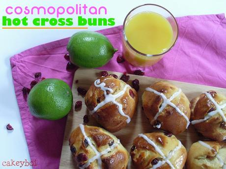 Cranberry, Orange and Lime Hot Cross Buns