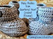 Adorable Crochet Baby Booties from Quartered Heart {Review}