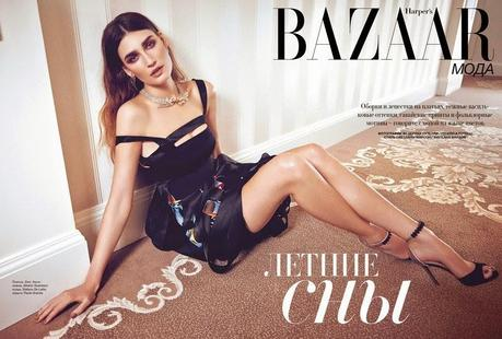 Eugenia Volodina for Harper's Bazaar Magazine, Russia, April 2014