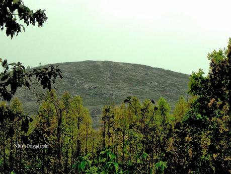 Dome gneiss hill near Ranchi city of India.