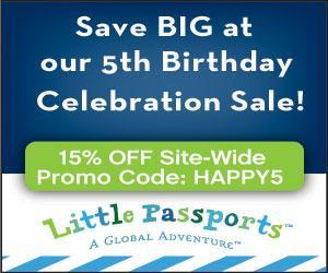 15% Off Little Passports for Their 5th Birthday! #ad