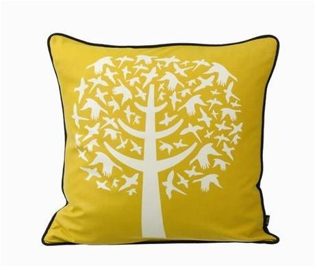 Bird Leaves in Yellow design by Ferm Living