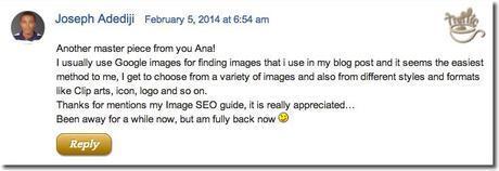 google image usage for blog posts