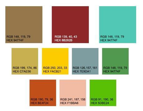 how to pick color palette to create blog images