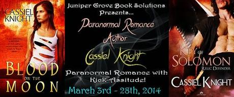 Cassiel Knight Paranormal Romance Author Tour: Tens List,  Review, and Excerpts