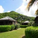 Hermitage Bay, Antigua, has beach-front cottages and villas on hill behind