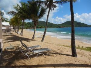 Surf beach at Curtain Bluff, Antigua