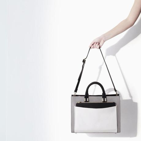 COMBINED OFFICE CITYBAG from Zara GREY BLACK