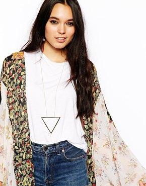 ASOS Triangle Long Necklace