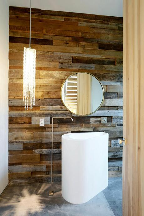 Eclectic design bathroom  Artful Display of Lines and Japanese Influences: Project 355 Mansfield in California