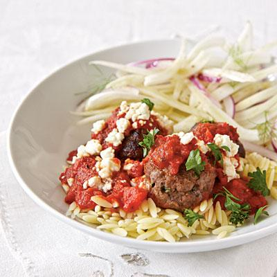 Healthy Dinner Recipe: Greek Pasta with Meatballs