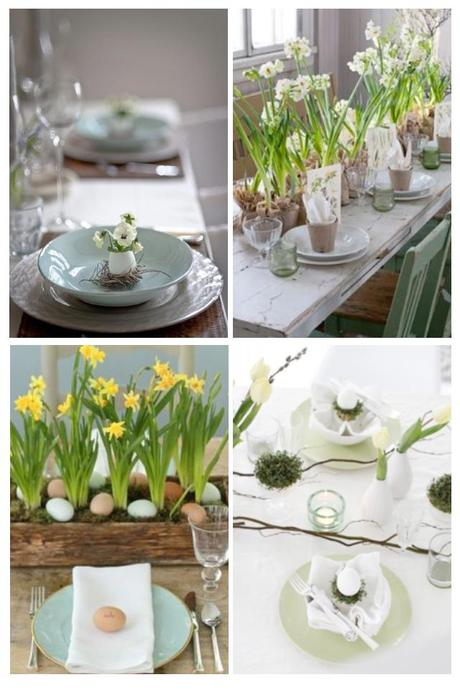 Table settings for Easter