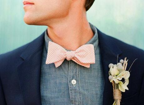 Fresh Wedding Details...Chambray and Pink
