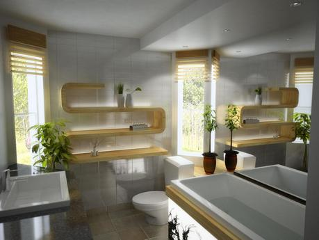 Floating Bathroom Rack