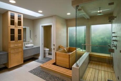 Wood Japanese Soaking Tub