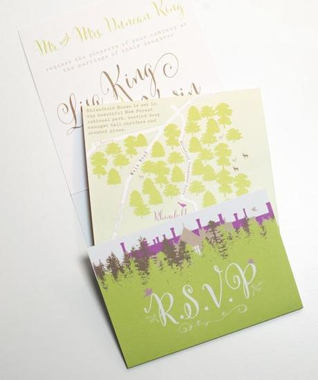 Post image for Swash and Fold Springtime Wedding Invitation with Cantoni Font