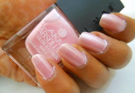 NOTD : Metallic Soft Pink Nails