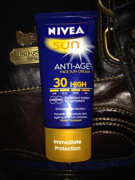 Drugstore Product: Nivea Sun Anti-Age Sun Cream with SPF..