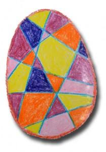 Crayoned and Dyed Egg series – number one.
