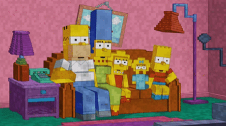 The Simpsons Does Minecraft For Couch Gag Paperblog