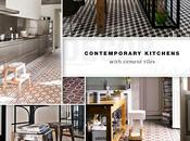 Contemporary Kitchens with Cement Tiles