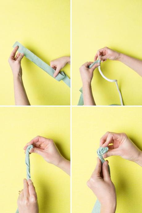 No-sew fabric rope Easter basket