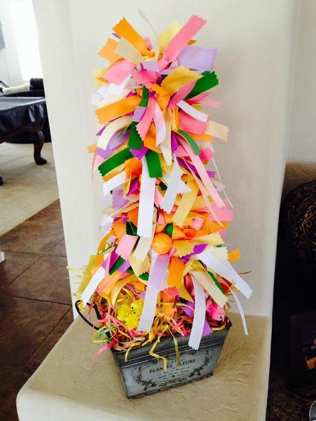 DIY: Step-by-Step Easter and Spring Ribbon Tree.