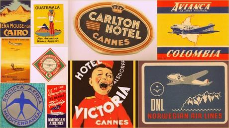 Retro luggage labels | Lacenruffles.com