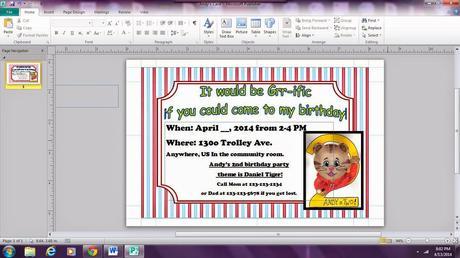 Daniel Tiger Birthday Party Invitations Paperblog
