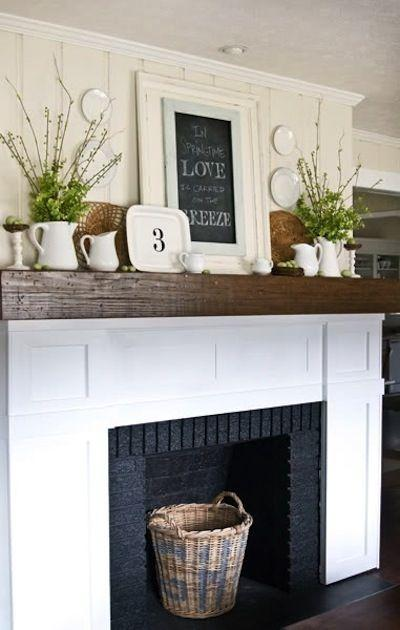 Spring and Summer Mantel Decorating Ideas Paperblog – Simple Mantel Decor