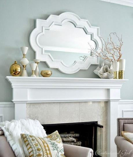 Spring and summer mantel decorating ideas