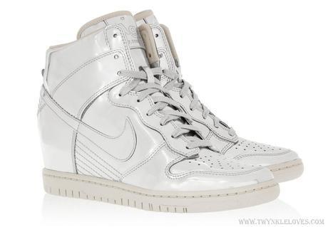 4fcccf72a16e ... shop wishlist nike dunk sky hi metallic leather wedge sneakers 65fc2  69081