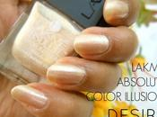 NOTD Desire with Lakme Absolute Color Illusion Nail
