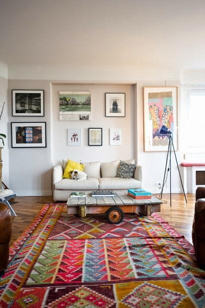 inspiration board | layered rugs