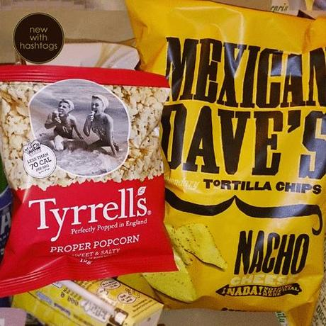 Degusta Box March 2014 Tyrells Popcorn and Mexican Dave Nachos